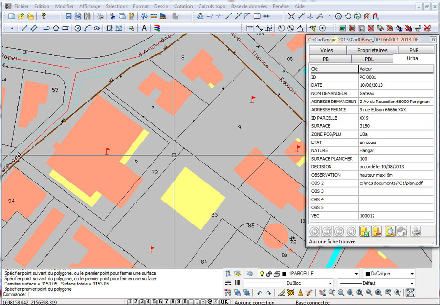 Cadog o une vision simple et efficace de la cartographie for Permis de construire en zone agricole